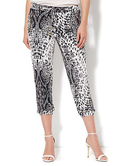 Soft Jogger Pant - Snake Print  - New York & Company