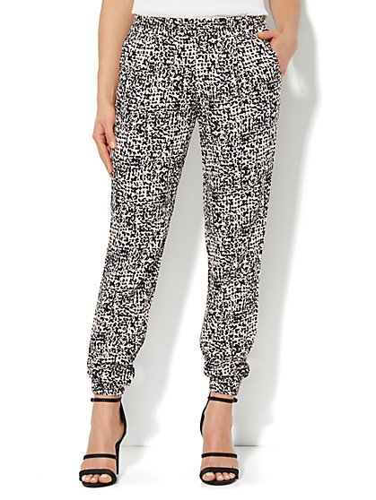 Soft Pant - Abstract-Leopard Print
