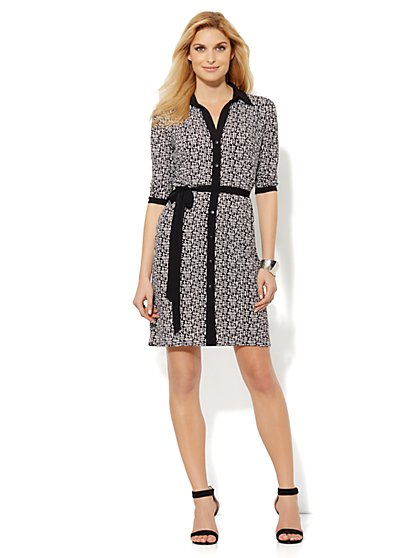 Soft Shirtdress - Printed