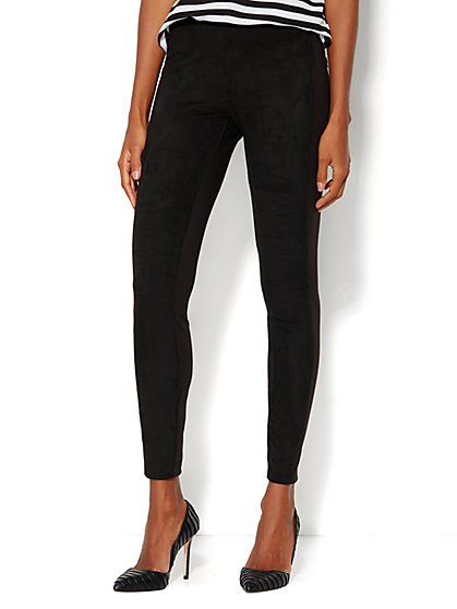 Soho Faux-Suede & Ponte Legging  - New York & Company
