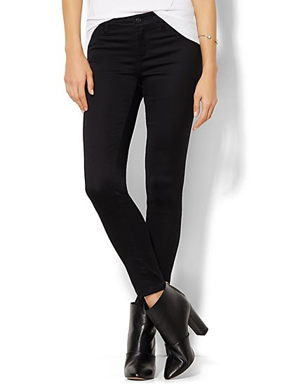 Soho Jeans - Ankle Legging - Black  - New York & Company
