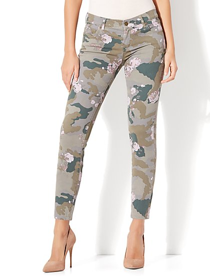 Soho Jeans - Ankle Legging - Floral & Camouflage Print - New York & Company