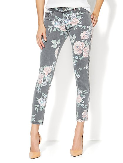 Soho Jeans - Ankle Legging - Floral Print  - New York & Company
