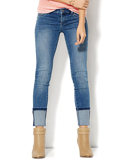 Soho Jeans - Ankle Legging - High Cuff   - New York & Company