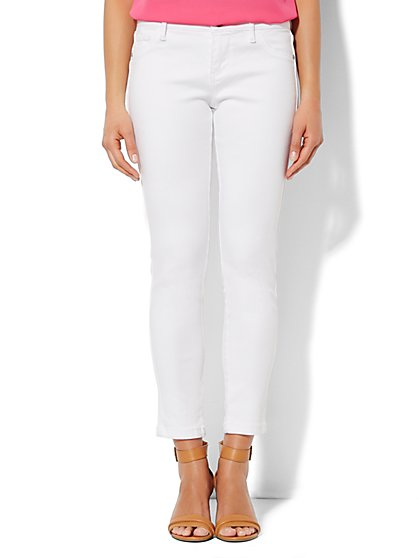 Soho Jeans - Ankle Legging - Optic White  - New York & Company