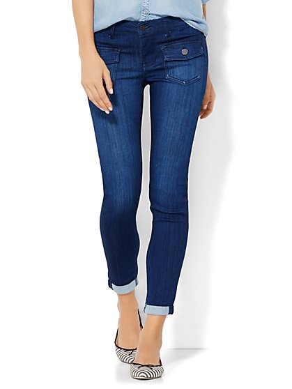 Soho Jeans Ankle Legging - Theatrical Blue Wash  - New York & Company