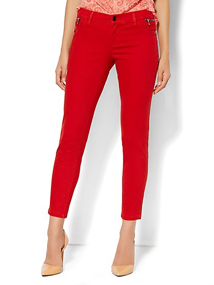 Soho Jeans Ankle Legging - Zip-Accent - New York & Company