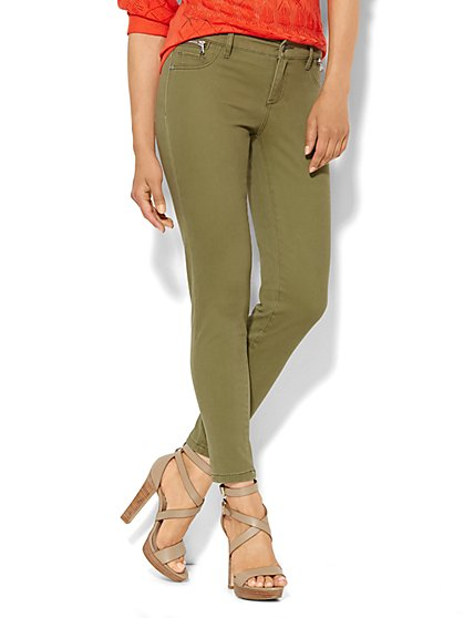 Soho Jeans - Ankle Legging - Zip-Accent - New York & Company