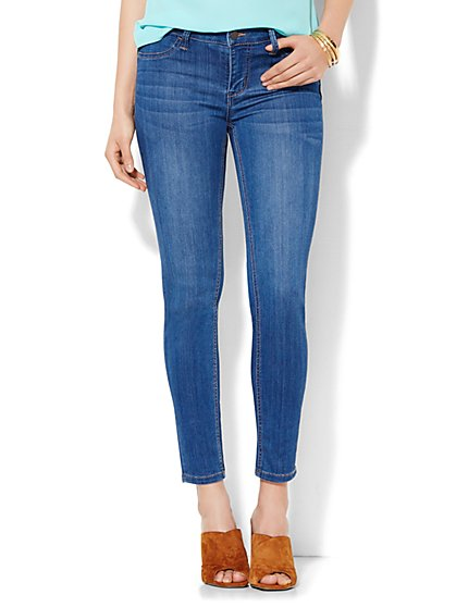 Soho Jeans Ankle SuperStretch Legging - Theatrical Blue Wash  - New York & Company