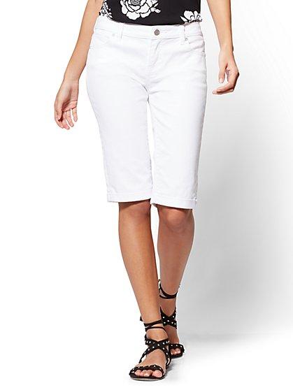 Soho Jeans - Bermuda Short - White - New York & Company