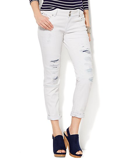 Soho Jeans - Boyfriend - Distressed  - New York & Company