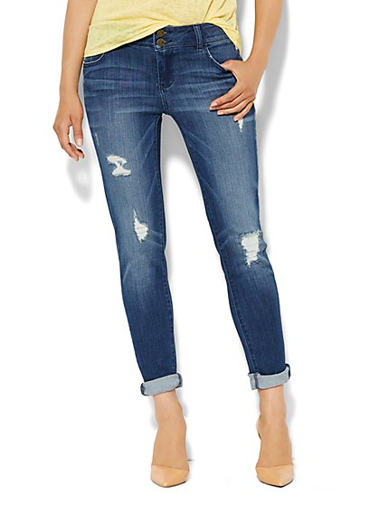 Soho Jeans Boyfriend - Metallic Patches Destroyed - New York & Company