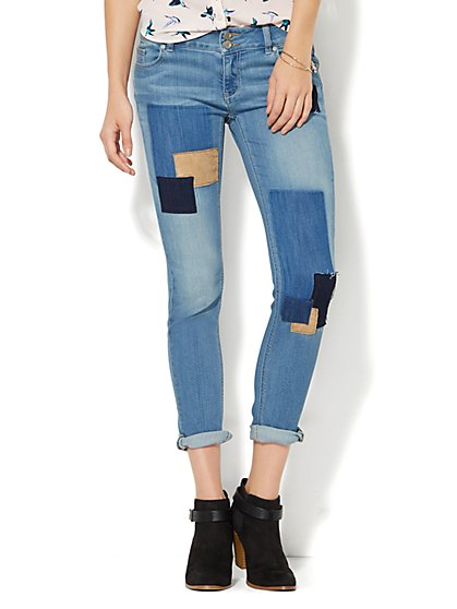 Soho Jeans - Boyfriend - Patchwork - New York & Company