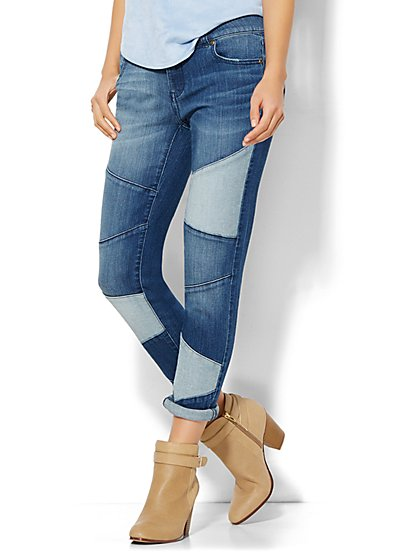 Soho Jeans - Boyfriend - Seamed Patchwork  - New York & Company