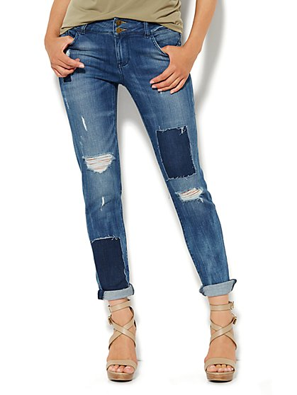 Soho Jeans Boyfriend - Wander Blue Wash - New York & Company
