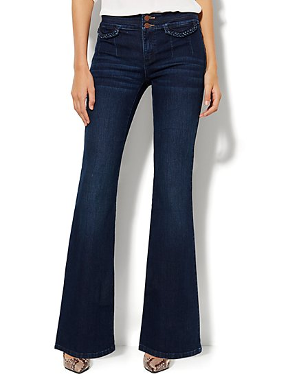 Soho Jeans - Braided Flare - Theatrical Blue Wash - New York & Company