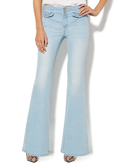 Soho Jeans - Braided Flare - White Wash Blue  - New York & Company