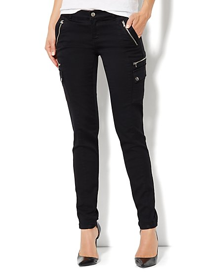Soho Jeans Cargo Legging - Black - New York & Company