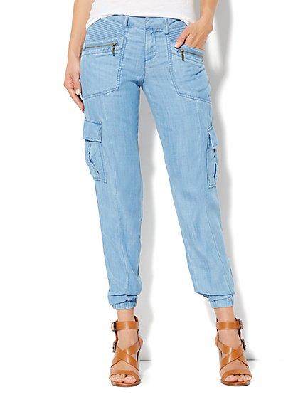 Soho Jeans Cargo Soft Jogger - New York & Company