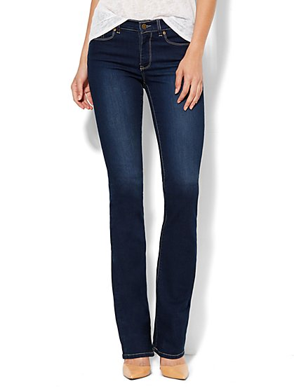 Soho Jeans - City Slim Control Bootcut - Harlow Blue Wash - Average - New York & Company