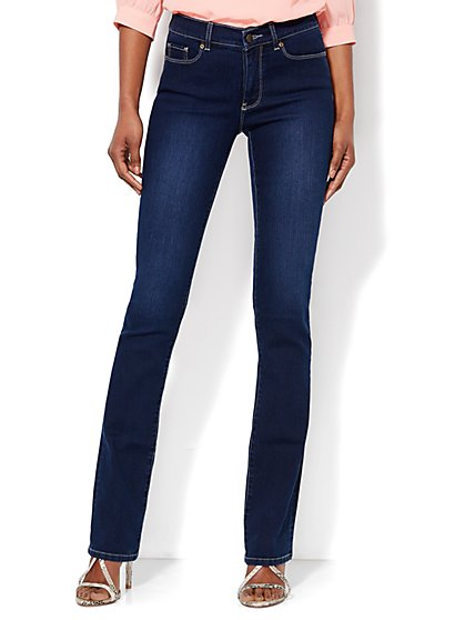 Soho Jeans - City Slim Control Bootcut - Harlow Blue Wash - Petite - New York & Company