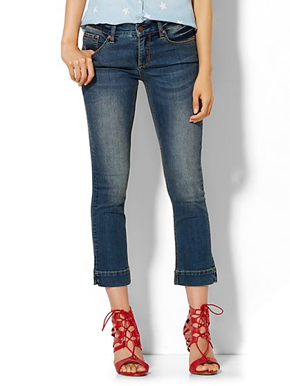 Soho Jeans City Slim Crop  - Parade Blue Wash  - New York & Company