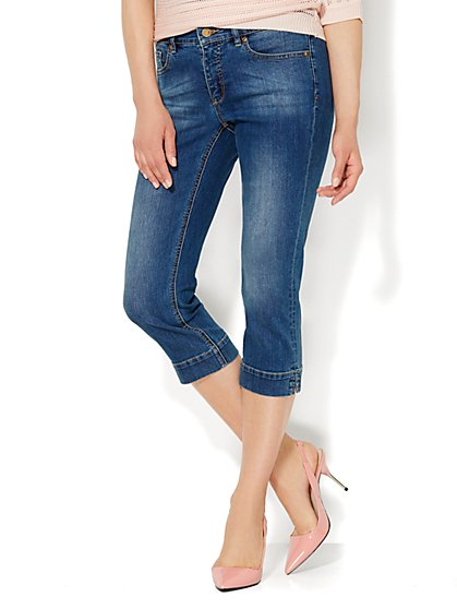 Soho Jeans City Slim Skinny Crop - Hudson Blue Wash  - New York & Company