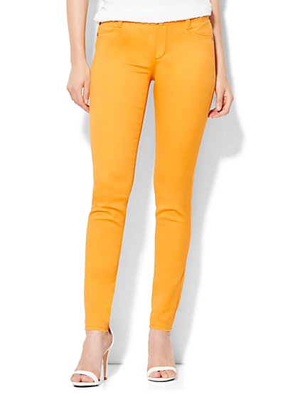 Soho Jeans Color SuperStretch Legging - Released Hem  - New York & Company