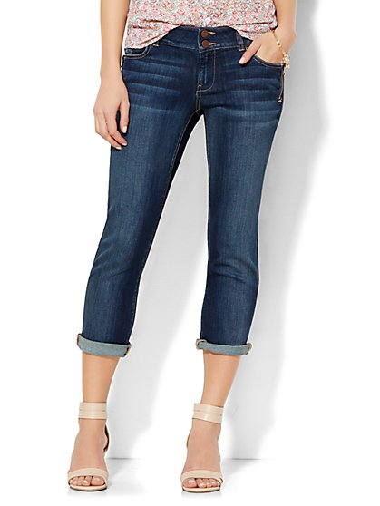 Soho Jeans Crop Boyfriend - Pure Ink Blue Wash  - New York & Company