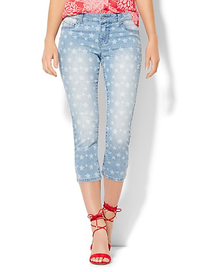Soho Jeans Crop Legging - Star Print  - New York & Company