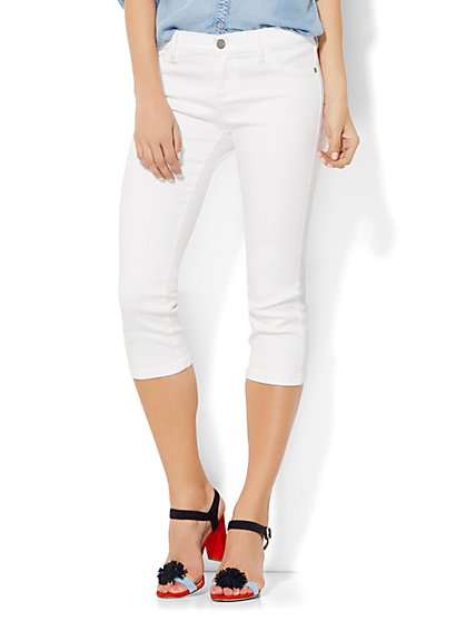 Soho Jeans - Crop SuperStretch Legging - Optic White  - New York & Company