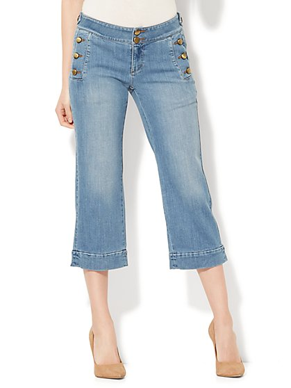 Soho Jeans - Cropped Wide Leg - Galaxy Blue Wash - New York & Company