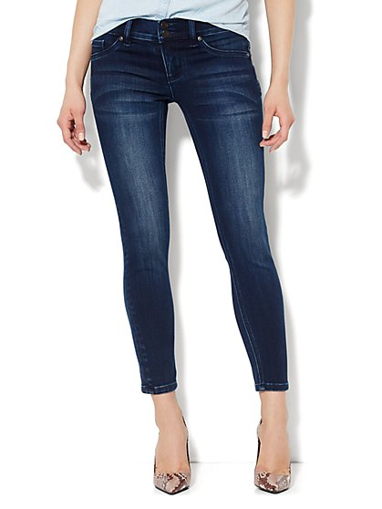 Soho Jeans - Curve Creator Ankle Legging - Dark Tide Wash  - New York & Company