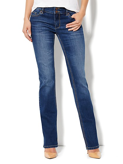 Soho Jeans Curve Creator Bootcut - Bayside Blue - Petite - New York & Company