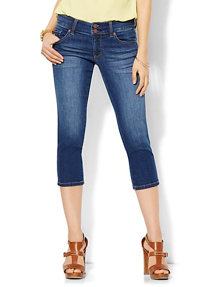 Soho Jeans - Curve Creator Crop Legging - Force Blue Wash  - New York & Company