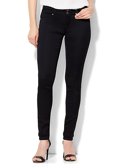 Soho Jeans Curve-Creator Legging - Black  - New York & Company