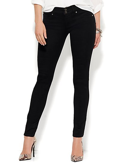 Soho Jeans - Curve Creator Legging - Black  - New York & Company