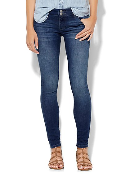 Soho Jeans - Curve Creator Legging - Driven Blue Wash - Petite - New York & Company