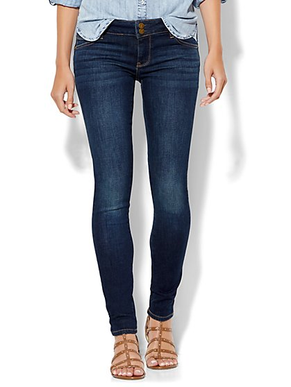 Soho Jeans - Curve-Creator Legging - Flawless Blue Wash - Tall - New York & Company