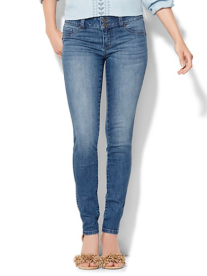 Soho Jeans Curve-Creator Legging - Heights Blue Wash  - New York & Company