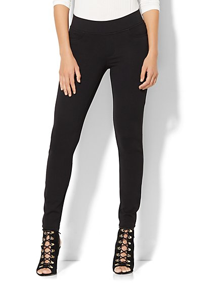 Soho Jeans - Curve Creator Legging - Ponte - Black  - New York & Company
