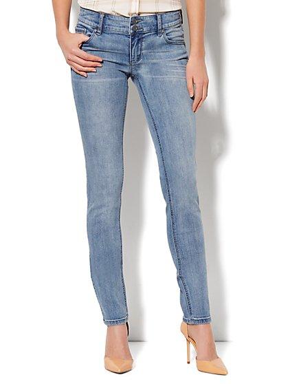 Soho Jeans Curve Creator Skinny - Ash Blue Wash  - New York & Company