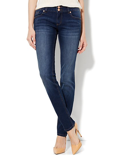 Soho Jeans Curve Creator Skinny - Theatrical Blue Wash - Petite - New York & Company
