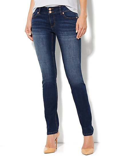 Soho Jeans Curve Creator Skinny - Theatrical Blue Wash - Tall - New York & Company