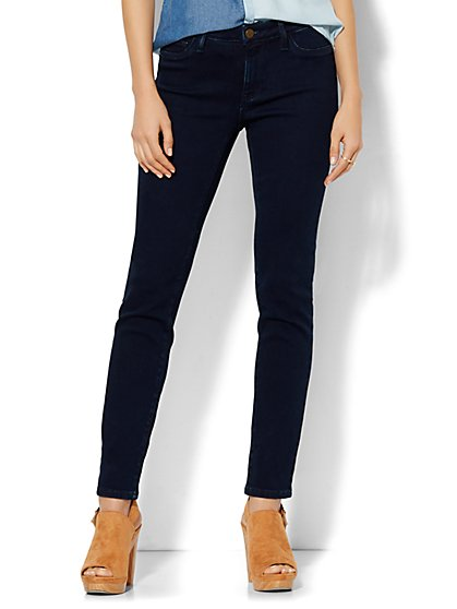 Soho Jeans - Curvy Ankle Legging - Dark Midnight Wash - Tall  - New York & Company