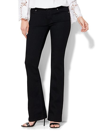 Soho Jeans Curvy Bootcut - Black - Tall  - New York & Company