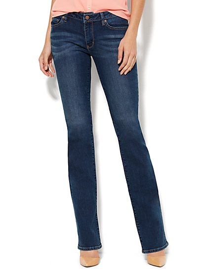 Soho Jeans Curvy Bootcut - Rich Indigo Blue Wash - Average - New York & Company