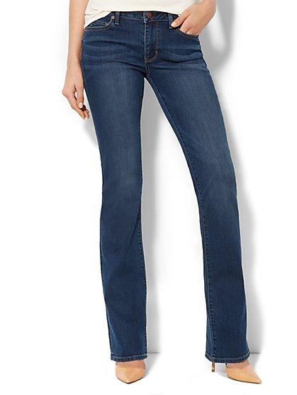 Soho Jeans Curvy Bootcut - Rich Indigo Blue Wash - Petite - New York & Company