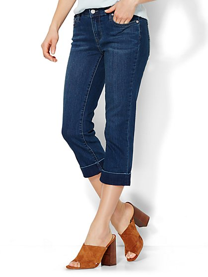 Soho Jeans Curvy Crop - Driven Blue Wash  - New York & Company