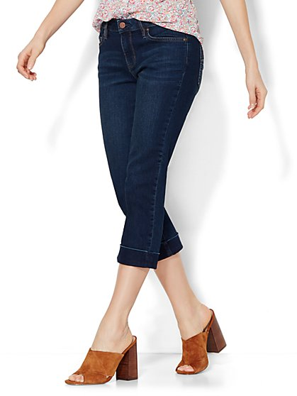 Soho Jeans Curvy Crop - Highland Blue Wash  - New York & Company